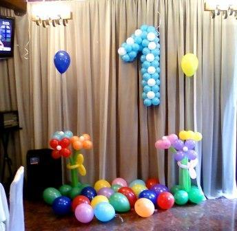 Украсить день рождения шарами