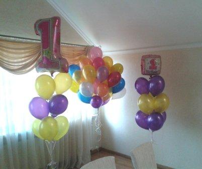 Украсить день рождения ярко воздушными шарами