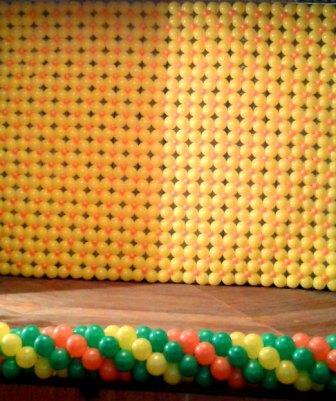 Оформление школьного праздника воздушными шарами