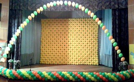 Воздушные шары на Выпускной вечер