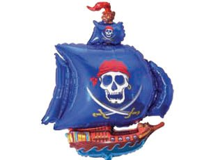 Гелевый шар Пиратский корабль