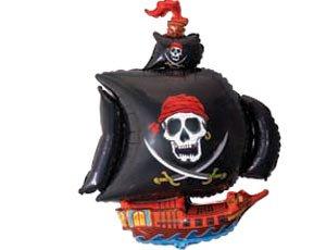 Гелевый шар фольгированный Пиратский Корабль