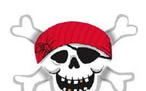 Гелевый шар из фольги Пират