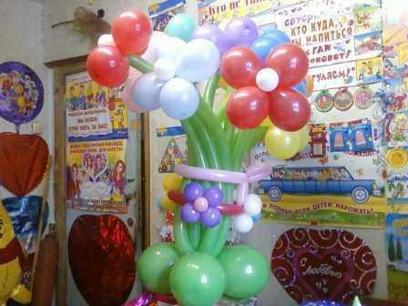 Букет шаров в подарок на 8 Марта