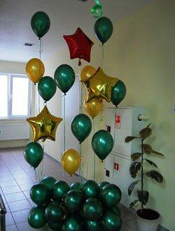 Воздушные шарики на 23 февраля