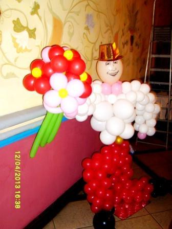 Подарок из шаров на 8 Марта
