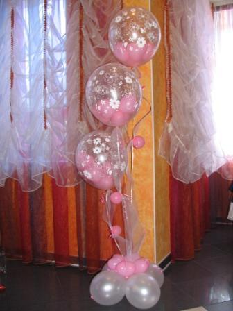 Украшение шариками на 8 марта