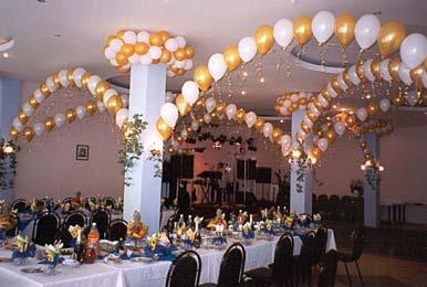 Гелевые шарики на свадьбе в Киеве
