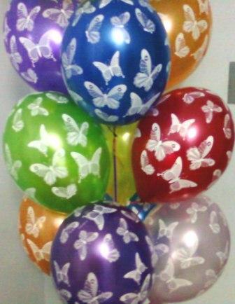 Букет воздушных шаров с бабочками Киев