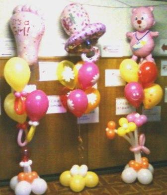 Букеты шаров для новорожденного