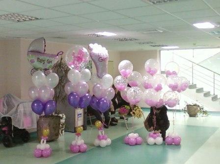 Подарите на рождение девочки букеты шаров