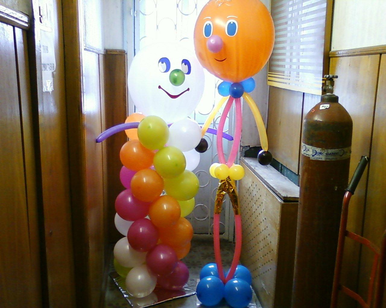 Веселые человечки из шариков на детский праздник
