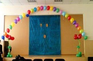 Оформление воздушыми шарами школьного праздника