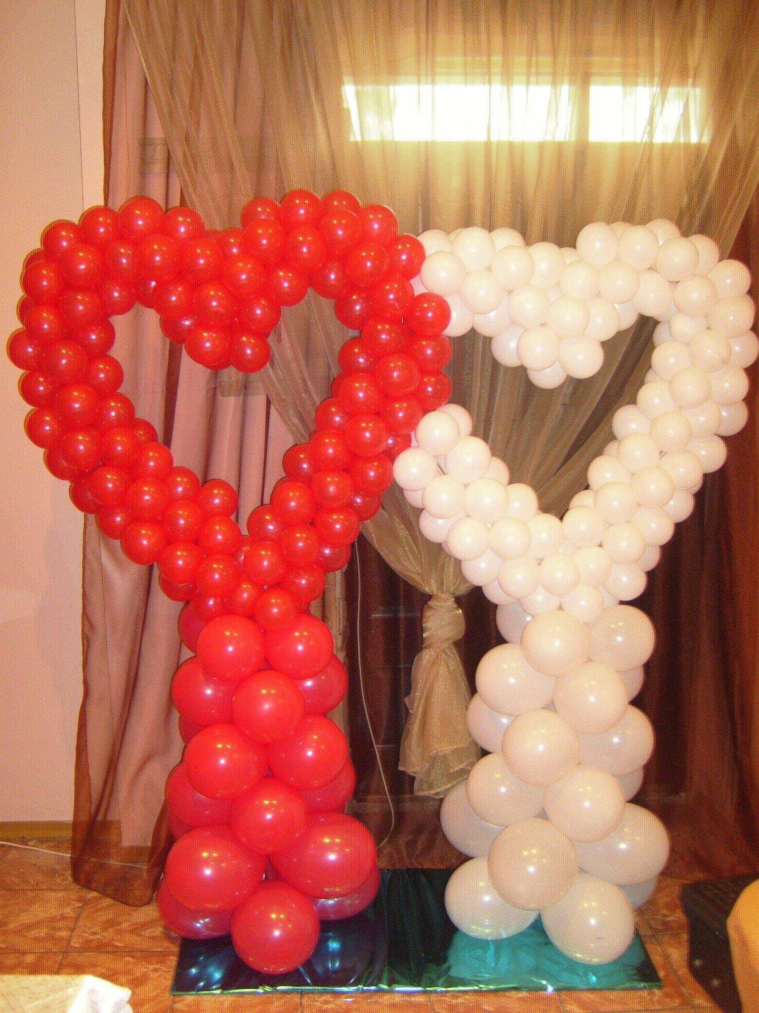 Стойка из шаров на свадьбу своими руками