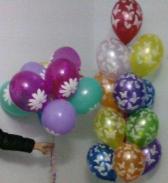 Букет шаров на день рождения девушке