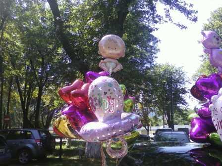 Букет из воздушных шаров в роддом