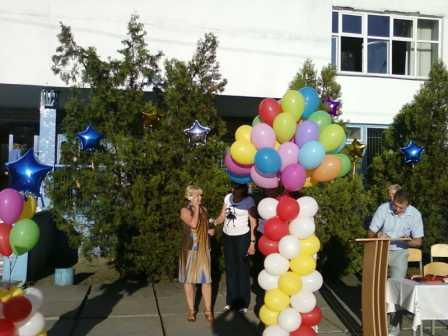 Букет из воздушных шаров на выпускной вечер