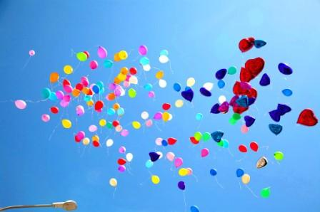 Запуск шариков на рождение ребенка