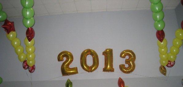 Оформление воздушными шарами нового года