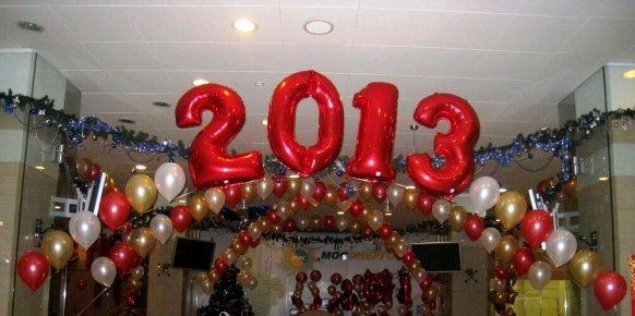 Воздушные шары - украшение на Новый год
