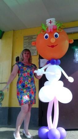 Оригинальный подарок фигура из шаров