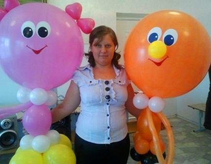Фигуры из шаров девочка и мальчик