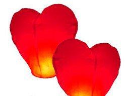 Небесные фонарики поздравление на День Влюбленных