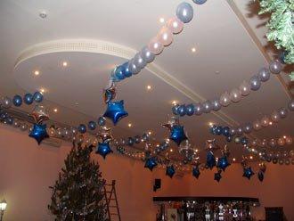 Новогоднее оформление воздушными шарами