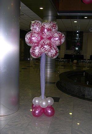 Оформление зала – композиция из воздушных шаров