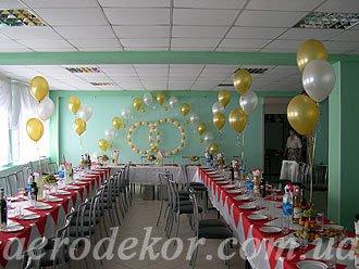 Свадебное оформление. Воздушные шары