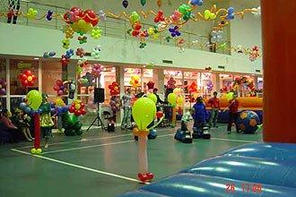 Оформление воздушными шарами спортивного праздника