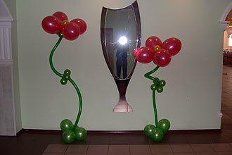 Оформление выпускного вечера воздушными шарами