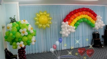 Оформление Выпускного вечера в детском саду шарами