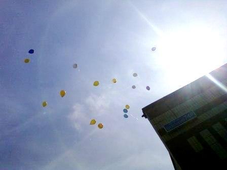 Воздушные шарики на 1 сентября в школе