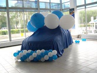Оформление автосалона шарами