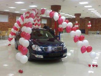Воздушные шары на открытие автосалона