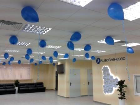 Оформление шарами помещения