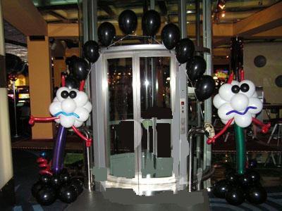 Оформление игровых клубов воздушными шарами