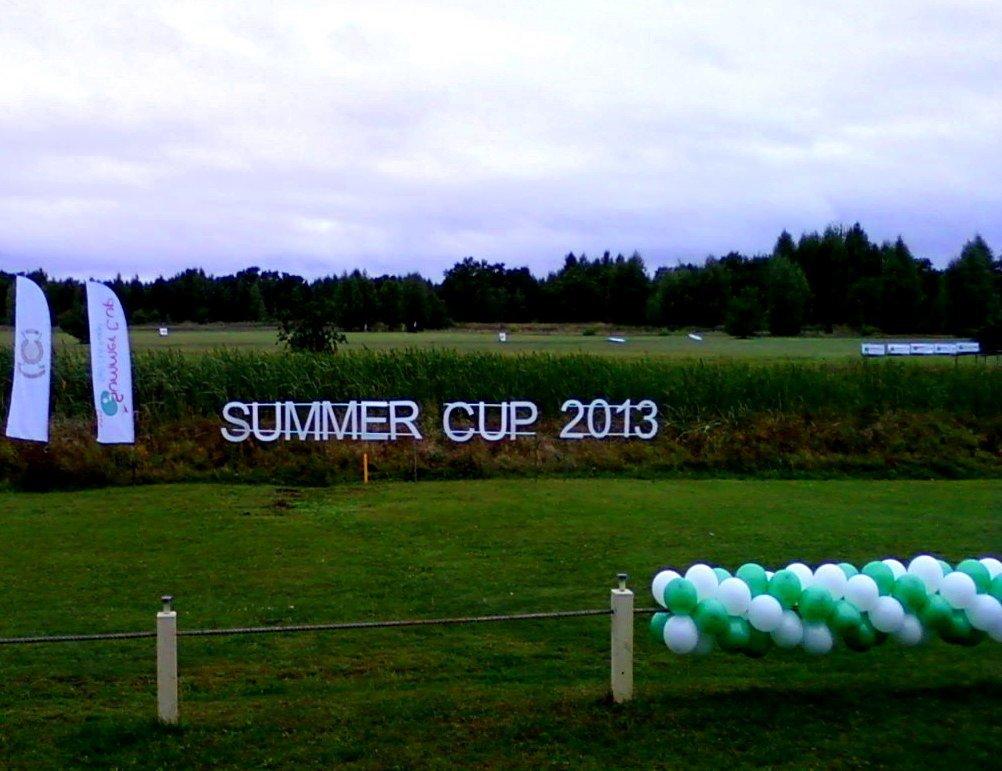 Воздушные шары на открытие гольф клуба