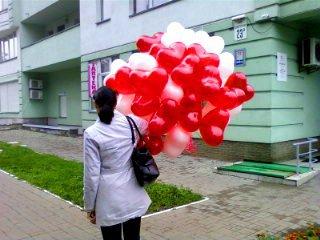 Шары-сердечки - подарок на день рождения Киев