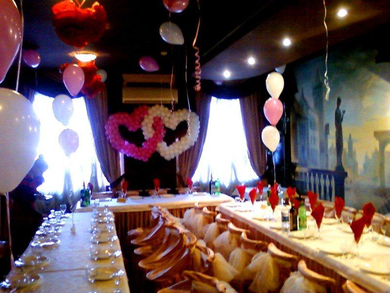 Украшение свадьбы шарами Киев
