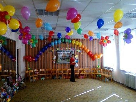 Оформление выпускного вечера шарами в детском саду