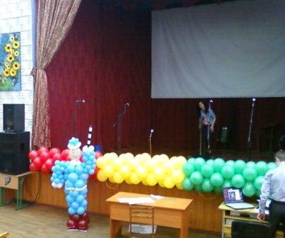Оформление Выпускного вечера воздушными шарами в транспортно-экономическом техникуме