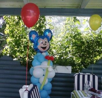 Оформление первого дня рождения шарами