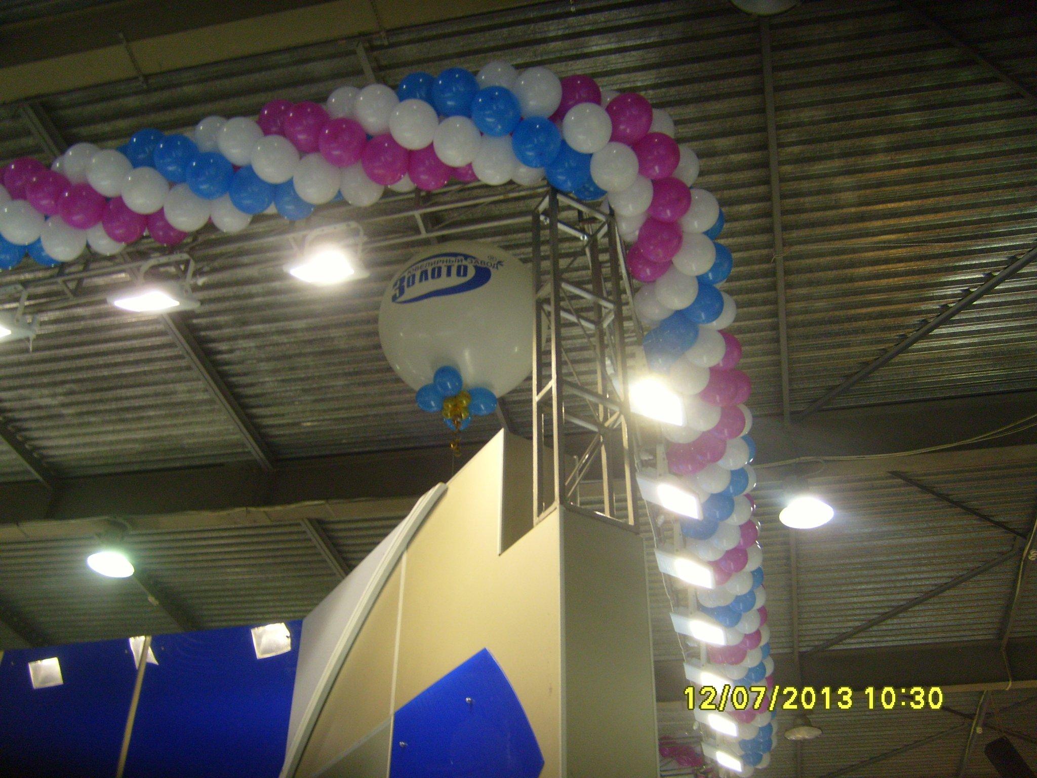 Оформление выставки воздушными шарами