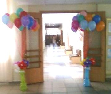 Воздушные шарики на школьный праздник в Киеве
