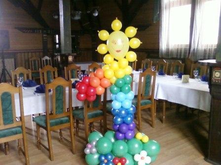 Воздушные шары на первый день рождения