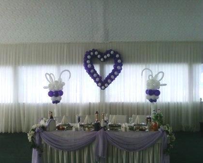 Оформление свадьбы шарами в Киеве