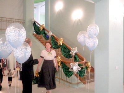 Оформление выпускного вечера шарами