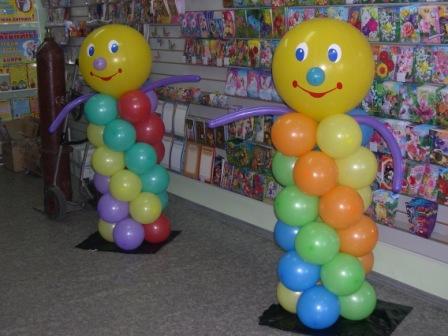 Веселая фигура из шаров